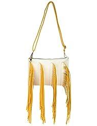 Amatra Synthetic Sling Bag (White)