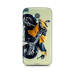 Motivatebox - Moto X Back Cover - Yellow Sports Bike Polycarbonate 3D Hard case protective back cover. Premium Quality designer Printed 3D Matte finish hard case back cover.