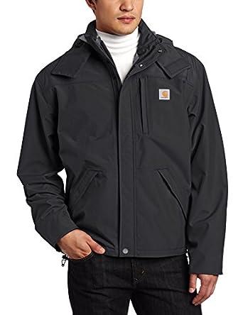 Carhartt Men's Waterproof Breathable Jacket, Black, Medium