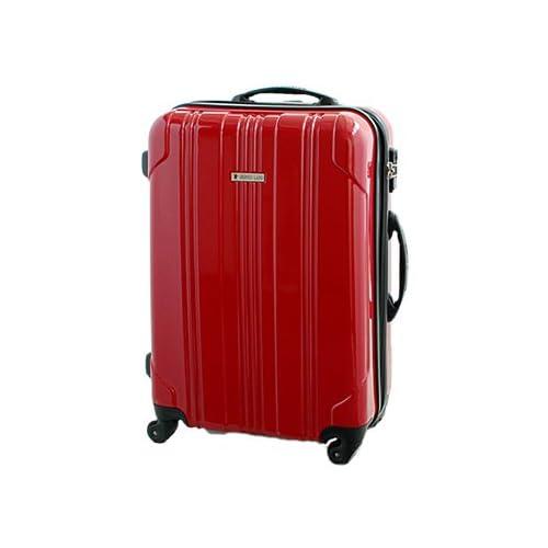 ストッパー付 スーツケース SELICA-F ファスナー開閉 (SS(機内持込)型, ガーネットレッド)