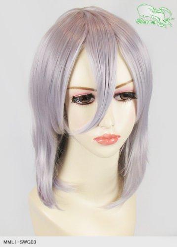 スキップウィッグ 魅せる シャープ 小顔に特化したコスプレアレンジウィッグ フェザーミディ スノーグレイ