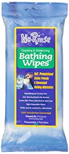 No Rinse Cleansing & Deodorizing Bathing Wipes - 8 ea