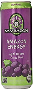 SAMBAZON Organic Amazon Energy Drink, 12 Ounce Cans (Pack of 24)