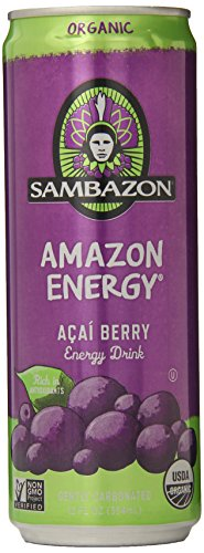 SAMBAZON Organic Amazon Energy Drink, 12 Ounce Cans (Pack of 24)