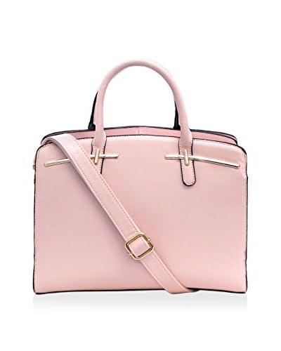 D'ORCIA Women's Wilhelmina Satchel, Light Pink