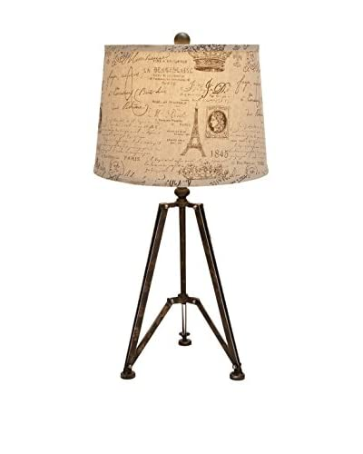 Metal Table Lamp, Paris Print