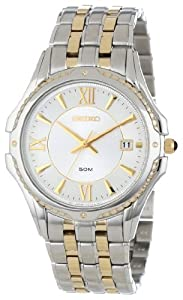 Seiko Men's SGEE94 Two-Tone Le Grand Sport White Dial Watch