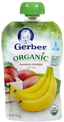 Gerber Organic 2nd Foods Purees - Banana Mango - 3.5 oz - 6 pk - 1