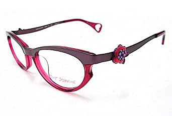 Betsey Johnson Darling Dots BJ053 Eyeglasses BJ 053 Violet 07 Optical Frame