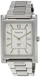 Sonata Analog White Dial Mens Watch - NF7925SM01A
