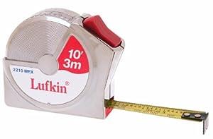 Lufkin 2210MEX 1/2-Inch/13mm by 10-Feet/3m Metric-Decimal Series 2000 Power Return Tape