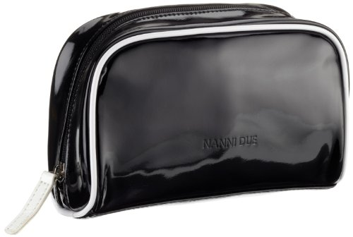 Nanni Due Laque Toilet Bag Womens Black Schwarz (nero 6899) Size: 21x13x9 cm (B x H x T)