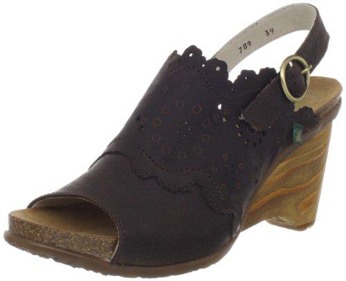 El Naturalista Vereda Donna US 10.5 Marrone Sandalo con la Zeppa EU 41