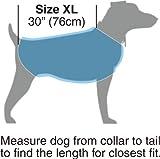 """Kakadu Pet Nylon Shell And Fleece Lined Dog Coat With Reflective Stripe, Extra Large 30"""", Sea (Blue)"""