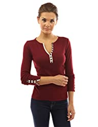 PattyBoutik Women's Notch Neck Button…