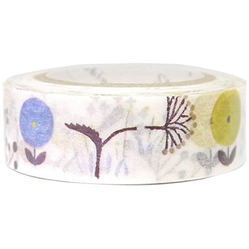 SEAL-DO Wild Flower Washi Tape Metallic Made in Japan