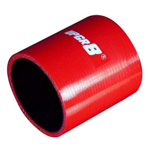 Upgr8 U8901-70-02 Universal 4-Ply 2.75'' High Performance Red Straight Coupler Silicone Hose 76Mm Length front-72035