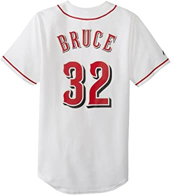 MLB Cincinnati Reds Jay Bruce White Home Replica Baseball Jersey, White by Majestic