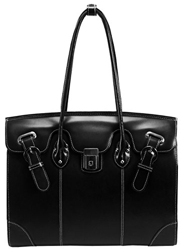 McKlein-USA-Genuine-Leather-Womens-Briefcase-156-Laptop-Business-Tote-Black