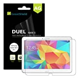 GreatShield® Samsung Galaxy Tab 4 10.1 Screen Protector [DUEL MARK II][Anti-Glare (Matte) Finish] PREMIUM Anti-Scratch Screen Protector Shield Film for Samsung Galaxy Tab 4 10.1 (3 Packs) - Lifetime Replacement Warranty