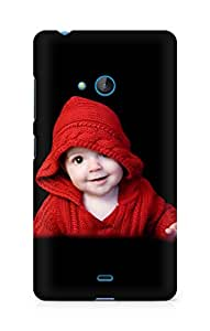 Amez designer printed 3d premium high quality back case cover for Microsoft Lumia 540 (A cuty my red baby awasome)