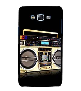 printtech Retro Music Player Back Case Cover for Samsung Galaxy J7 (2016 )
