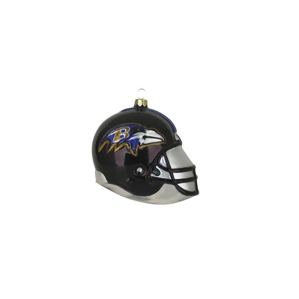 BSS   Baltimore Ravens NFL Glass Football Helmet Ornament