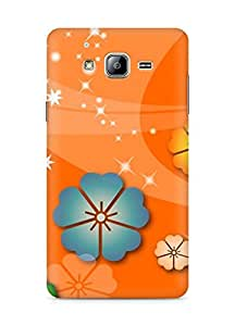 Amez designer printed 3d premium high quality back case cover for Samsung Galaxy ON5 (Abstract flowers christian)