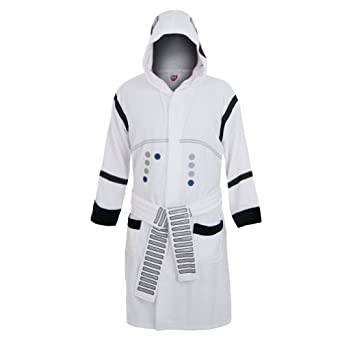 Star Wars Stormtrooper Hooded White Cotton Bath Robe, one size fits most
