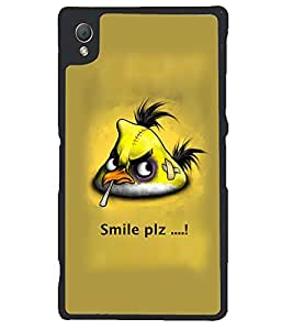 Fuson Premium Smile Please Metal Printed with Hard Plastic Back Case Cover for Sony Xperia Z3