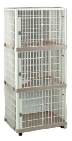 IRIS Plastic Three Tier Pet Cage for Dog or Cat