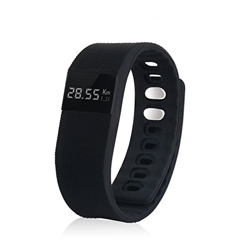 ActiveTec Smart Watch Bluetooth Watch Bracelet Smartband Calorie Counter Wireless Pedometer Sport Activity Tracker Android IOS Phone-black