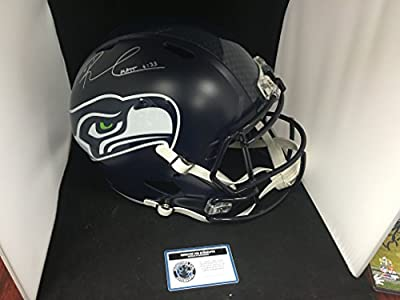 Russell Wilson Autographed Signed Seattle Seahawks Full Size Speed Replica Helmet COA & Hologram