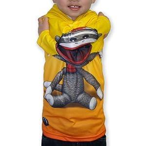 MouthMan® Unisex-Child Sock Monkey Hoodie Shirt