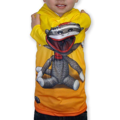 Mouth Man Unisex-Child Sock Monkey Hoodie Shirt Yellow 12