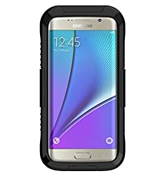 Vcloo® Galaxy S7 Edge Waterproof Case,20ft(6M)Galaxy S7 Edge Case, Dust Proof, Snow Proof, Shockproof, Heavy Duty Full Sealed Underwater Swimming Diving Case for Galaxy S7 Edge (Black)