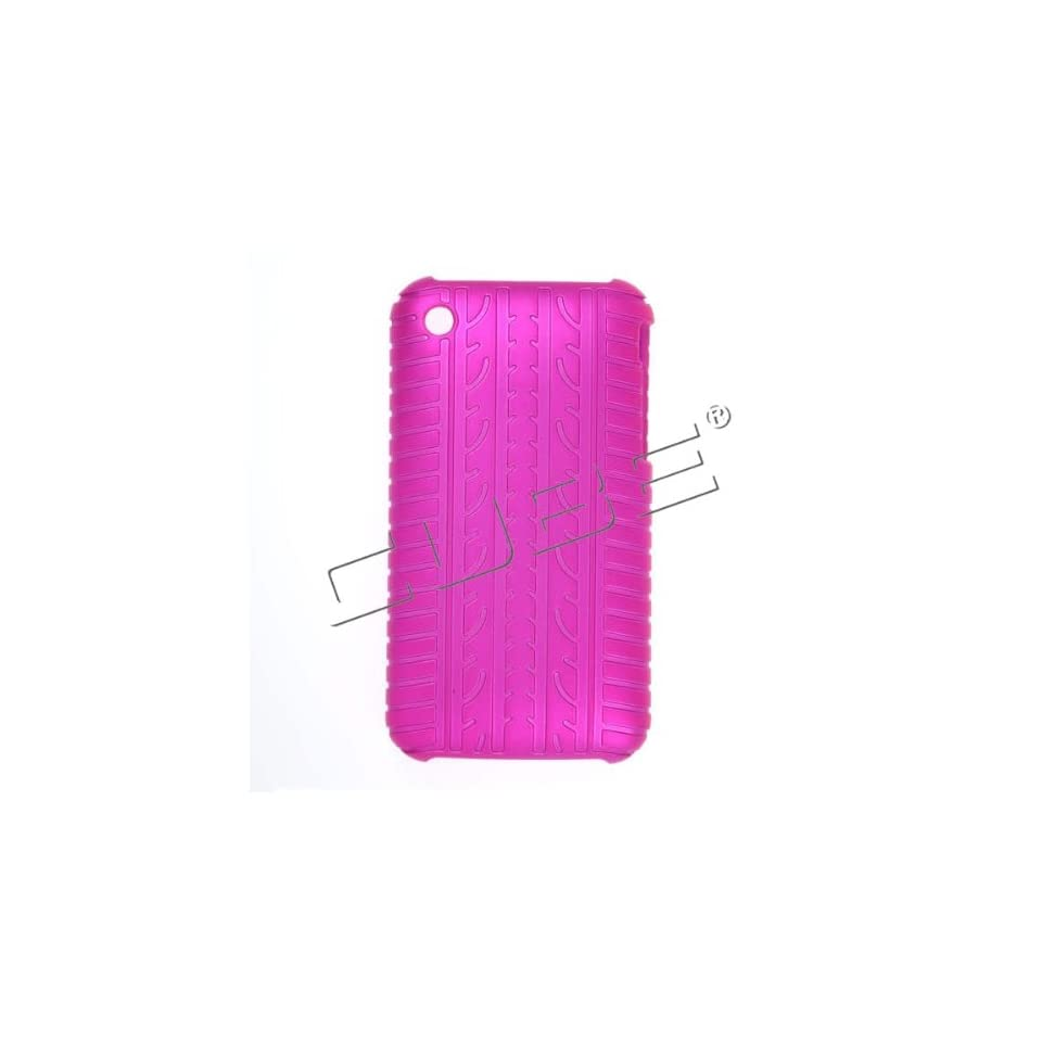 Apple iPhone 3G/3GS Tire Design Hot Pink 1 pcs Snap On Hard Case/Cover/Faceplate/Snap On/Housing/Protector