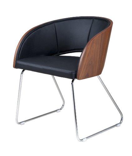 Plutus Modern Club Chair, Walnut front-1041864