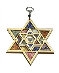 Holy Land Gifts 01301X Wall Hanging Double Star Of David Semi Precious