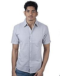 Mavango City Look Grey Checkered Slim Fit Men's Casual Cotton Shirt