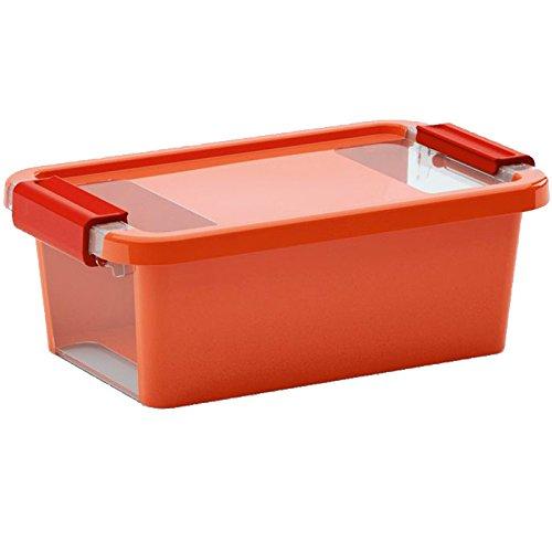 Kis 8451000 0123 01 Bi Box-Scatola portaoggetti in plastica da 3 litri, colore: arancione/trasparente