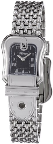 Fendi B. Fendi Ladies Stainless Steel Black Dial Watch F386210