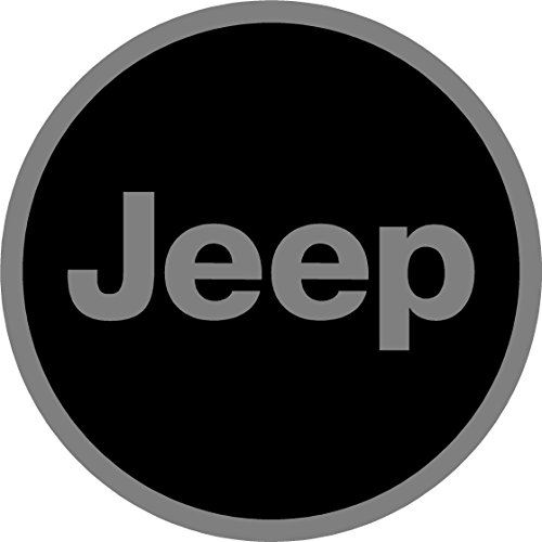 6 Piece Jeep Black and Gray Replacement Rim Decal Sticker Set