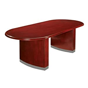 Summit Cope 8' Race Track Conference Table Cherry Finish
