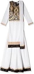 Atayant Girl Lehenga Choli (ATAYK_033_2:3YR_Black:White_S)