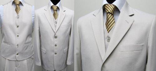MUGA mens Suit + Waistcoat, light Beige, size 60R (EU 70)