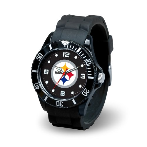 NFL Pittsburgh Steelers Spirit Watch, Black at Amazon.com