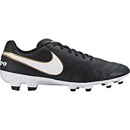 Nike Tiempo Genio II Leather FG Soccer Cleat (Sz. 11.5) Black