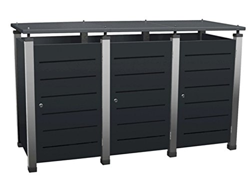 m lltonnenbox f r 3 tonnen zu je 240 liter modell pacco. Black Bedroom Furniture Sets. Home Design Ideas