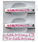2pcs Hello Kitty Graphics Auto Car Truck handle Decor Stickers Sticker Decals-PINK